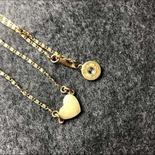 Tory Burch Vintage Necklace heart shape 心形复古頸鏈