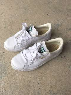 Puma Basket Classic White Shoes