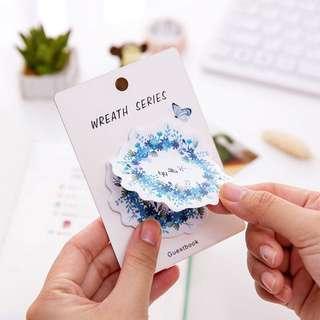 🌟BN INSTOCKS Assorted Pretty Flowers around Sticky Post-Its Memo Pads
