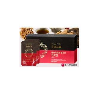 韓國LG生活健康[生活精元] 冬蟲夏草發酵紅蔘口服液 60ml x 30包 禮品裝