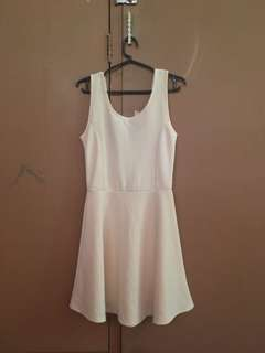 Off-white Low-back Dress