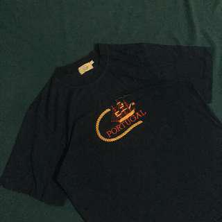 PORTUGAL EMBROIDERED SHIRT NAVY BLUE