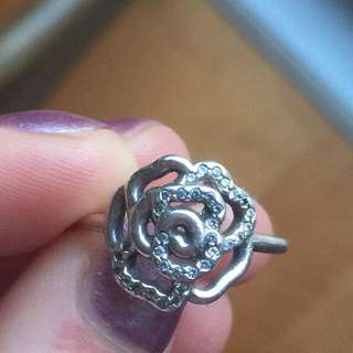 Authentic pandora ring and charms