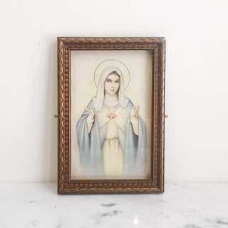 Vintage Deco Virgin Mary Framed Print