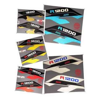 BMW R1200GS R1200 GS decal coverset front head fairings sticker reflective blue yellow silver yellow gold red