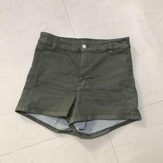 H&M divided high waist shorts / celana pendek