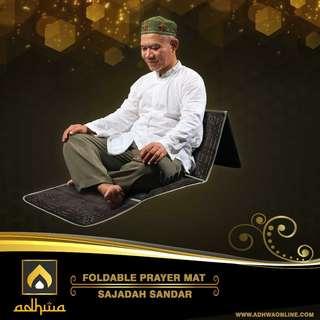 Sajadah Sandar Premium Adhwa Turki Foldable Prayer Mat Sender Duduk