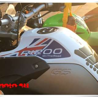 BMW R1200GSA Adventure R1200 1200 GSA british britain union jack blue on the road sticker tank fuel decal