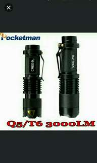🚚 Mini Light Cree xml t6 q5 flashlight powerful Zoomable Tactical Flashlight waterproof led torch lanterna flash max 3000LM ZK93 Only T6 avail