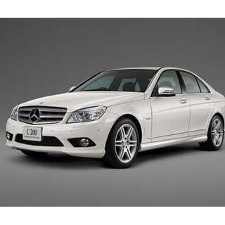 Mercedes C200 untuk disewa