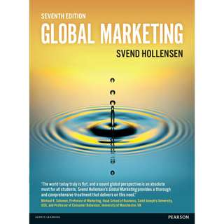 Global Marketing 7th Seventh Edition by Svend Hollensen - Pearson