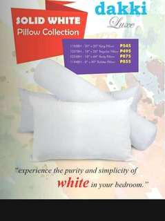 Dakki Solid White Pillows