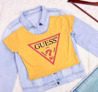 Guess Inspired Crop Top