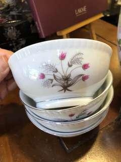 Vintage Bunga Lalang bowls