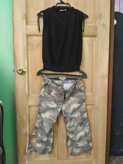 Girl's set clothes camouflage
