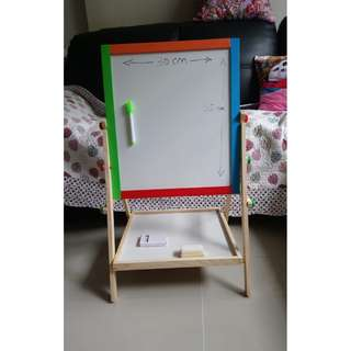 🚚 Kids Toddler Children Wooden Magnetic Double-Sided Drawing Board Easel