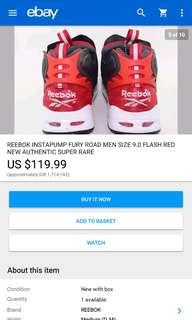 Sepatu Reebok Inta Pump Basket