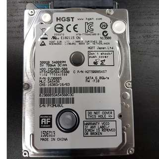 "🚚 Used Hitachi (HGST) 500GB 2.5"" Sata Drive"