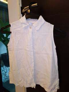 Kids White Top (sleeveless)