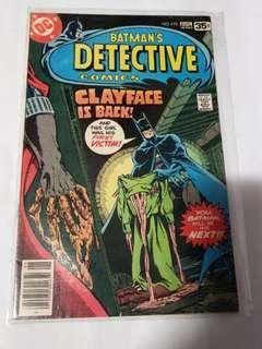 DETECTIVE COMICS 478 1st CLAYFACE 3