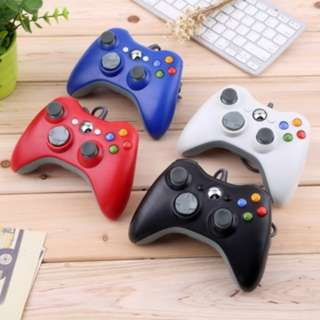 (74)USB Wired Joypad Gamepad Controller For Microsoft Xbox & Slim 360 PC Windows 7