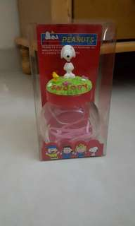 Snoopy glass container