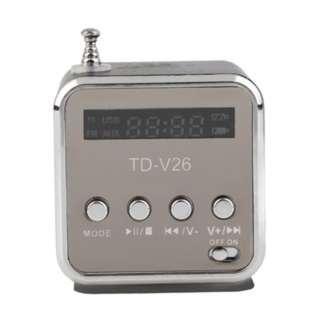 (75)Portable TF USB Mini Stereo Speaker Music Player FM Radio PC MP3 /4
