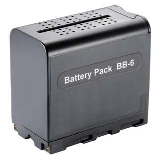 1283. BB-6 Battery Holder 6pcs AA Battery Case Pack Power as NP-F Series Battery for LED Video Light Panel / Monitor