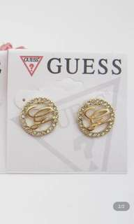 Guess earrings 金色閃石