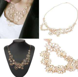 NEW - Camellia necklaces