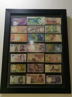 Currency with Frame