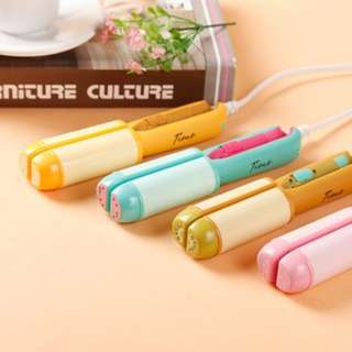 (77)Creative Korea Cute Fruit Mini Electric Hair Straightener and Curling Irons