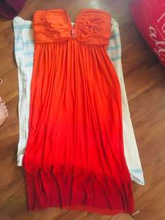 Orange dress.. fit medium to large..