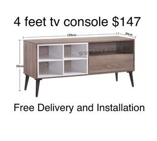 4 feet Tv Console $147