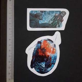 C5B DC Comics Tom & Atlanna & Black Manta Sticker Stickers