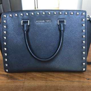 AUTHENTIC Michael Kors Black Studded Bag