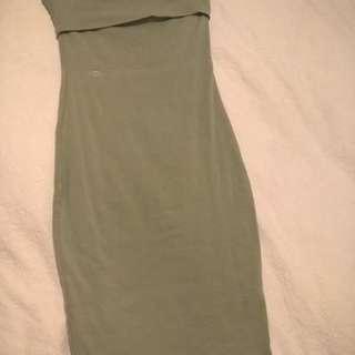 KOOKAI khaki tube dress