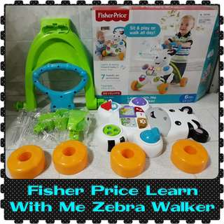 NEW Fisher Price Learn with Me Zebra Walker