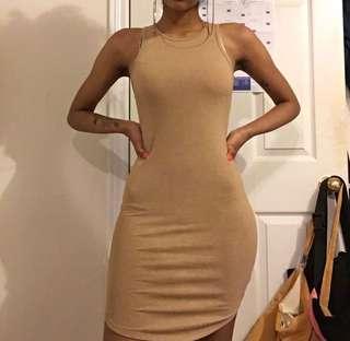 Light Brown Bodycon Dress