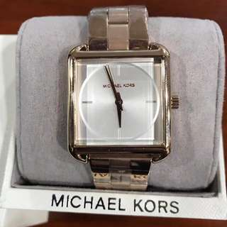 MK Square White Face Watch.