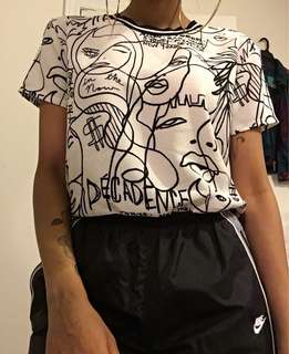 Black and White Graphic Tee