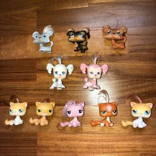LPS with hair yorkies cats poodles magnetic first series