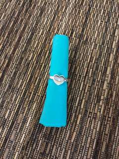 💯Authentic Tiffany & Co Modern Heart silver diamond ring size 8