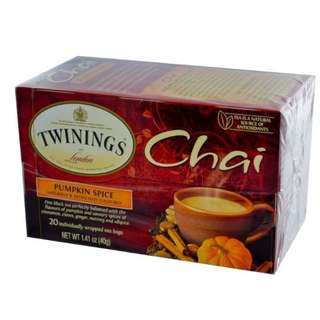 Twinings, Chai, Pumpkin Spice, 20 Tea Bags, 1.41 oz (40 g)