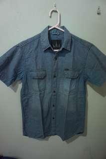 Screamous kemeja cotton denim shirt