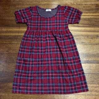 Plaid Baby Doll Dress