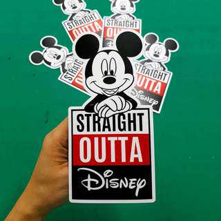 Mickey Straight Outta Disney Sticker - 8.8cm(W) X 18cm(Ht)