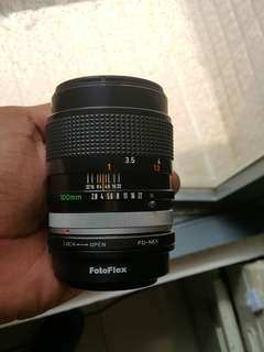 Canon 100 mm f2.8 FD manual ens