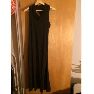 Long dress (built-in bra) - size S