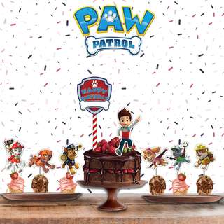 1set$12 Paw Patrol Ryder Chase Marshall Skye Rubble Zuma Rocky Cake Topper for Birthday or any celebration
